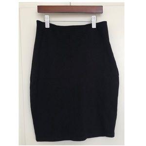 Solemio Black Bodycon Stretchy Mini Skirt Large